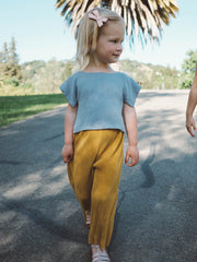Accordion Pants - Mustard