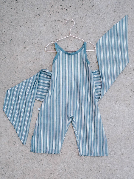 Wrapping Romper - Nautical Stripe