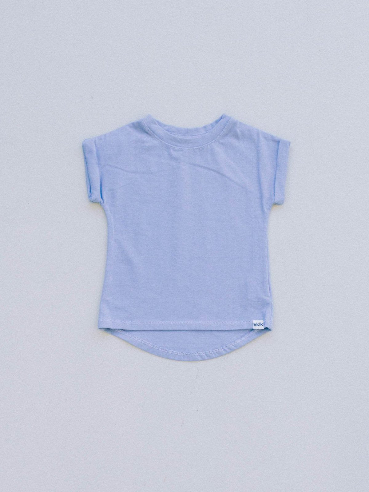 T - rolled sleeve, Bay Blue