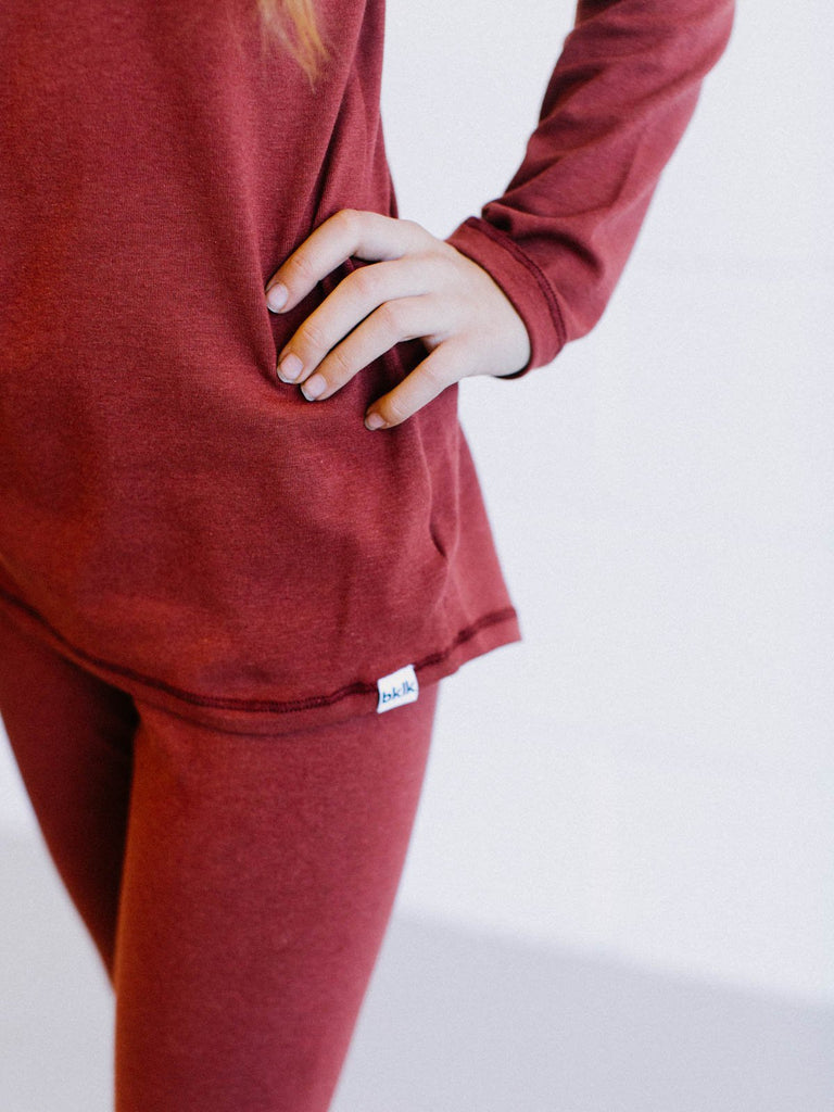 T - long sleeved, Cranberry