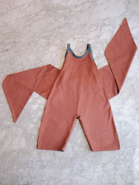 Wrapping Romper - Antique Rose