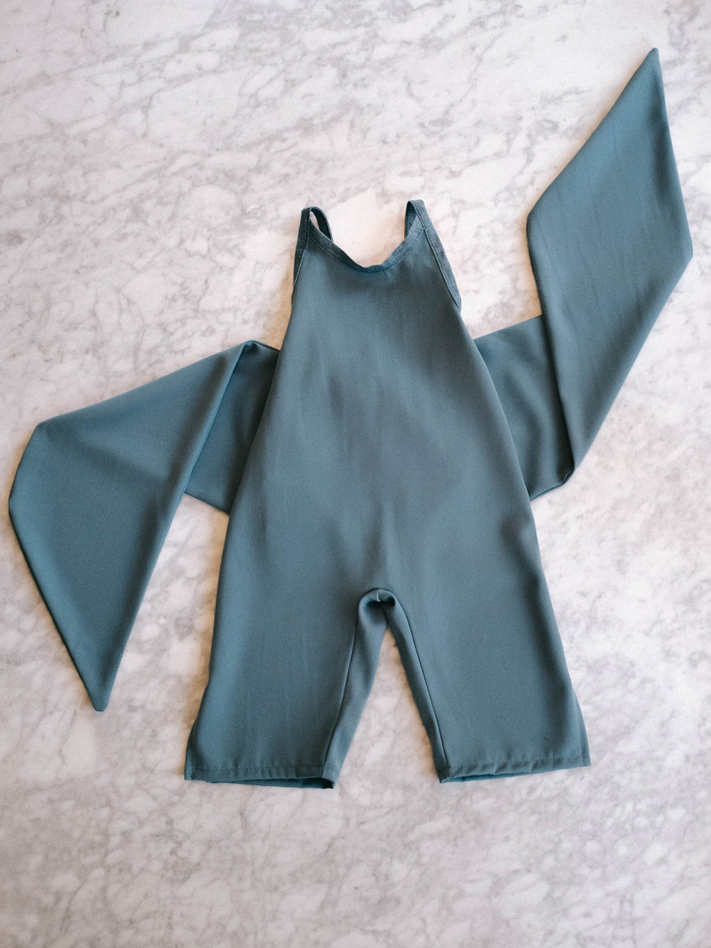 Wrapping Romper - Teal Pebble