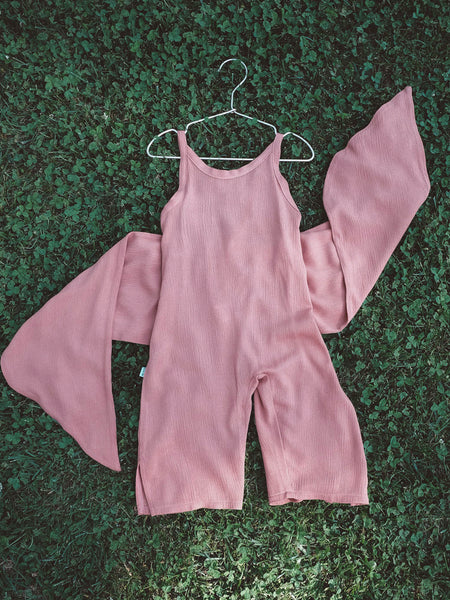 Wrapping Romper - Mauve