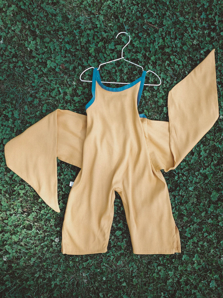 Wrapping Romper - Mustard