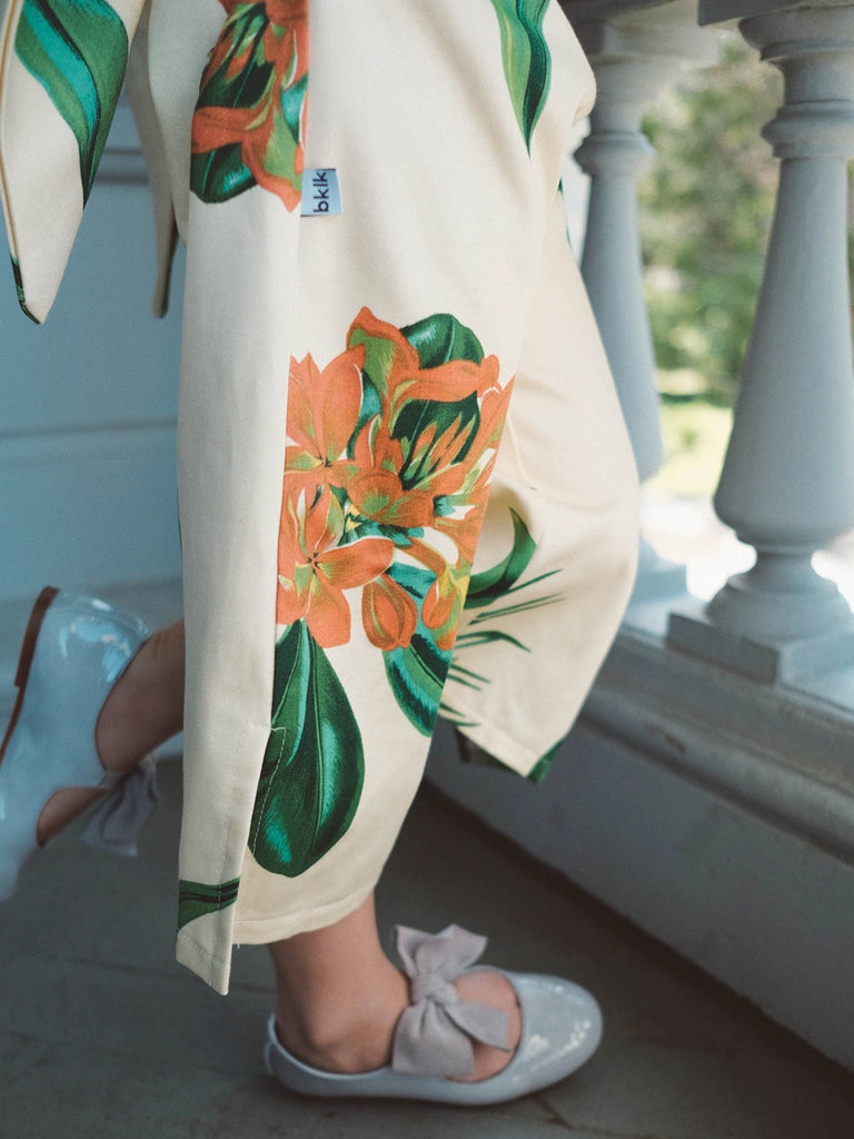 Wrapping Romper - Tropical