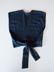 Wren Crop Top - Indigo Wave