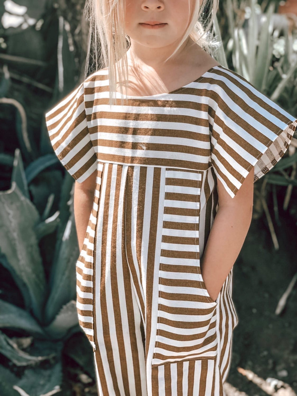 Big Kiss Jumpsuit - Nutmeg Stripe