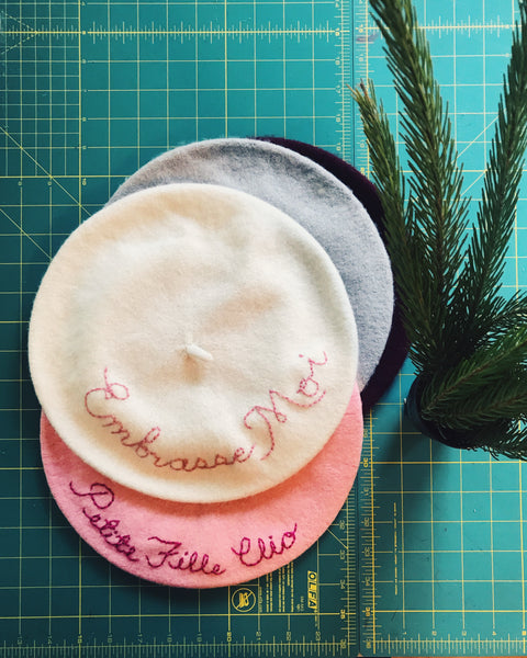Custom Embroidered Beret - Women or Child