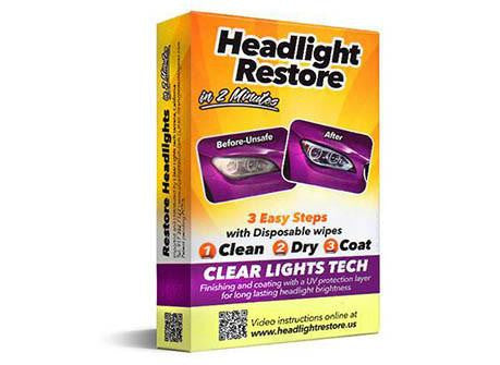 1 x Car Headlight Restoration Starter Kit - 60% OFF!