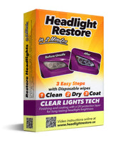 1 Master Carton - 128 Single Sets, Headlights Cleaning and Restoration Wipes. Tariff No. 3405.90.0000