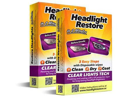 The Perfect Headlights Restoration Kit - 2 Sets - 67% OFF!