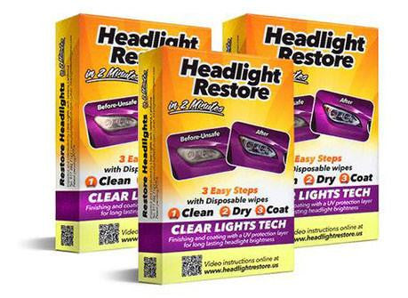 3 x Triple Headlights Lens Restoration Kit - 65% OFF!