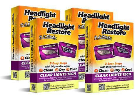4 x Headlights Cleaning Kits - 58% OFF!