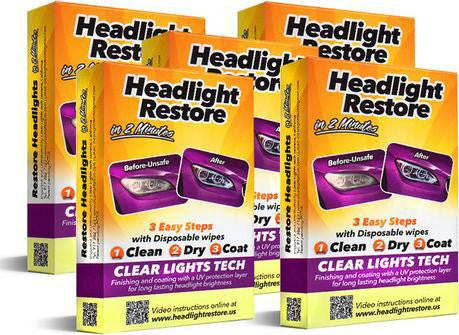 5 Sets - Headlights Lens Renew Restoration Kits - 60% OFF