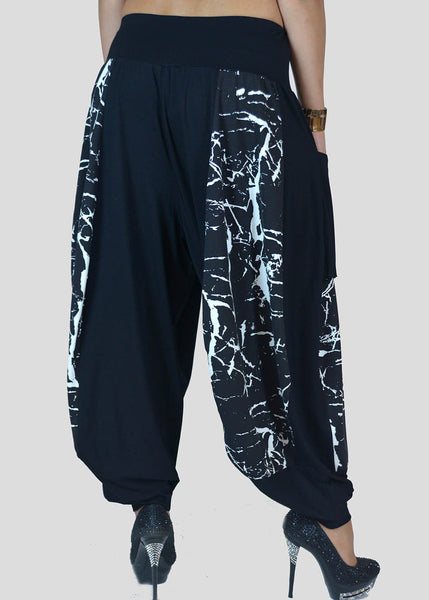 Avivit Yizhar <br> Black & White Harem Pants