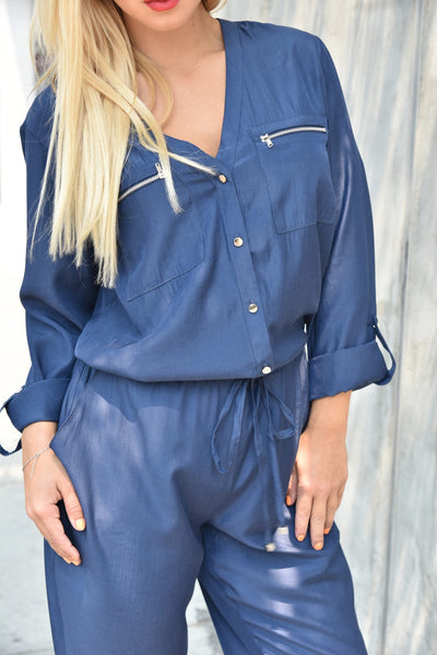 CQbyCQ <br> Summer Navy Jumpsuit