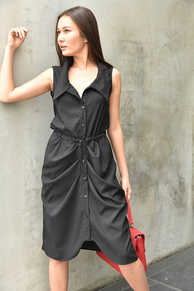 Gr.Dano <br> Button-Up Midi Dress