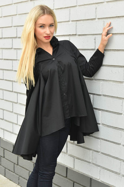 CQbyCQ <br> Oversized Ruffled Collar Shirt