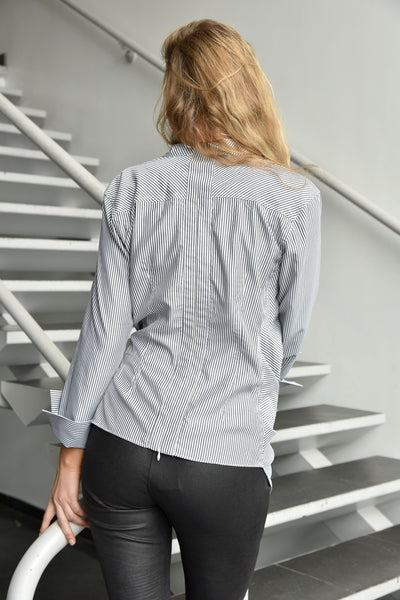 CQbyCQ <br> Striped Asymmetrical Shirt