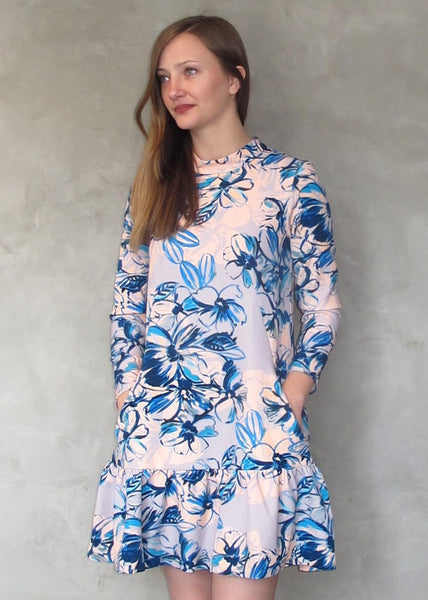 Closet London <br> Floral Print Flounce Dress