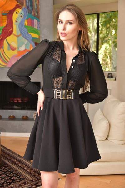 Sonia Fortuna <br> Black Evening Dress