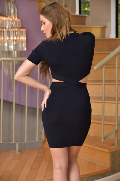Glamorous <br> Dark Navy Cut Out Bodycon Dress