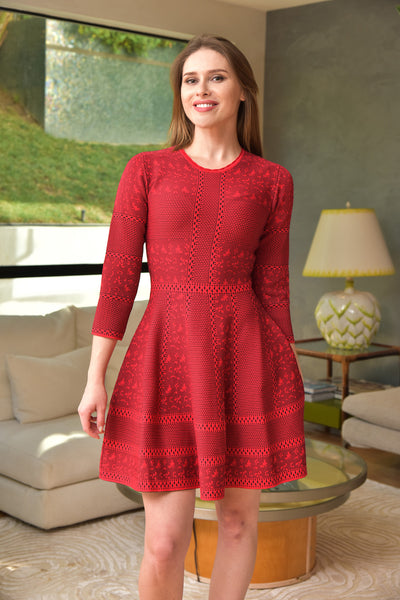 Endless Rose <br> Knit Red Dress