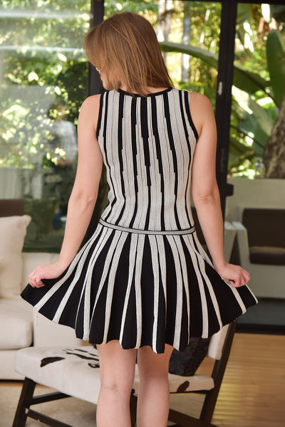 Endless Rose <br> Striped Bandage Dress