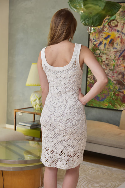 Endless Rose <br> White Crochet Dress