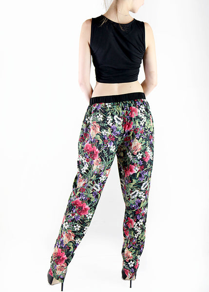 DiLine <br> Floral Print Relaxed Pants