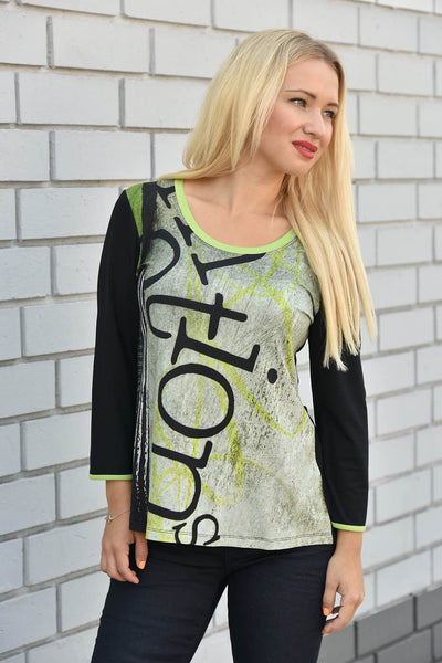 Dolcezza <br> Graffiti Print Long Sleeve Top