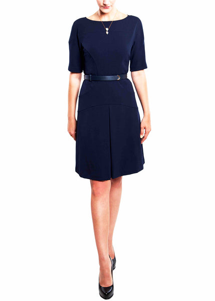 Donna Morgan <br> Navy Fit & Flare Elegant Dress