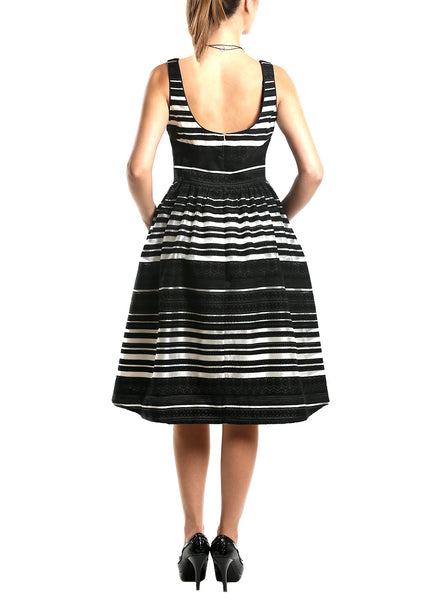 Donna Morgan <br> Stripe Organza Swing Dress
