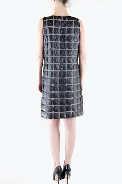 Elisabetta Giusti <br> Black Shift Mesh Dress