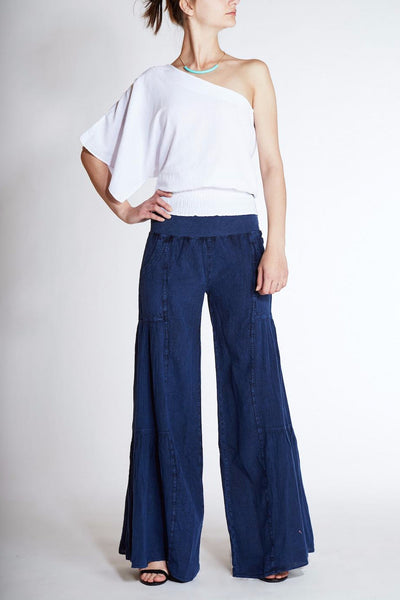Giocam <br> Summer Cotton Wide-Leg Pants