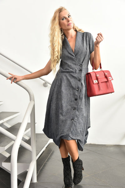 Gr.Dano<br> Striped Draped Dress