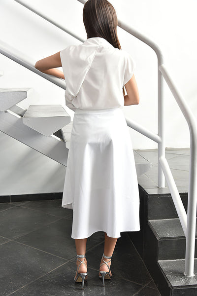 Gr.Dano <br> White Top with the Folded Collar