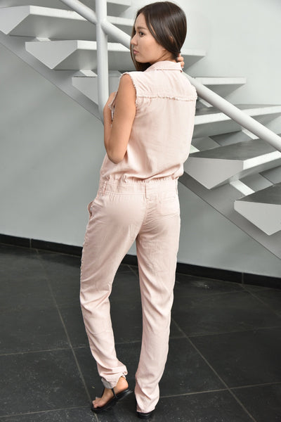 Honey Punch <br> Pink Tencel Jumpsuit