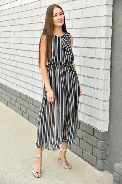JOA <br> Striped Summer Jumpsuit