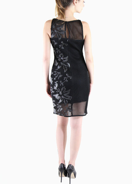 Julia Jordan <br> Black Mesh Dress