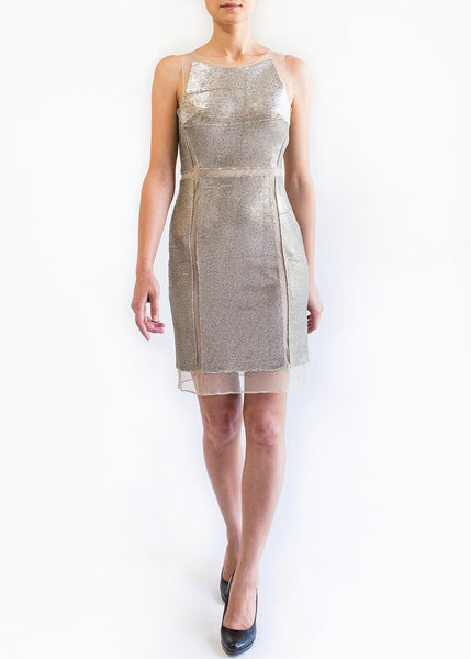Julia Jordan <br> Sequined Dress With Mesh Insert