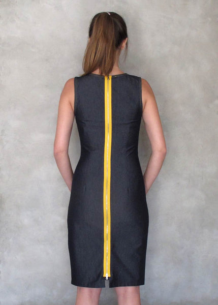 Maggy London <br> Stretch Denim Sheath Dress