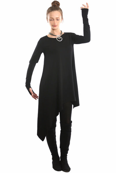 NY77 Design <br> Asymmetrical Jersey Tunic Dress