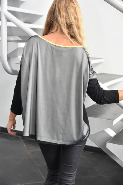 NY77 Design <br> Oversized Color Block Top