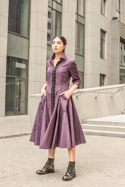 NY77 Design <br> Amethyst Taffeta dress