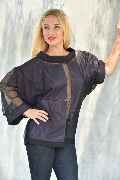 NY77 Design <br> Oversized Mesh Top