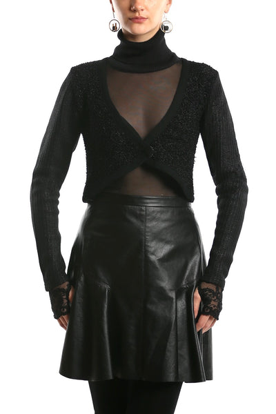 NY77 Design <br> Wool Knit Bolero