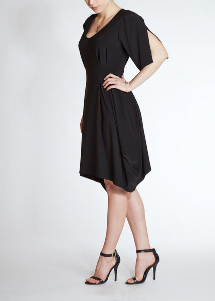 Sunlight Paris <br> Black Jersey Dress