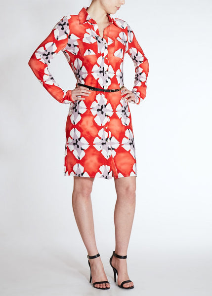 Vertigo Paris <br> Red Poppy Jersey Dress