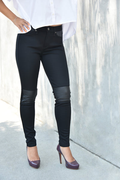 Yoga Jeans <br> High Rise Skinny Moto Detail Jeans